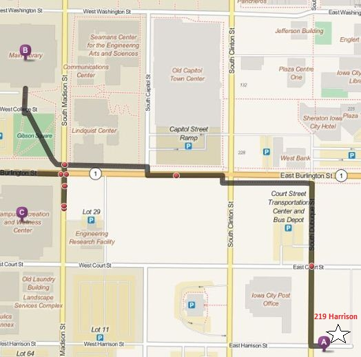 219 map with route to library (3)
